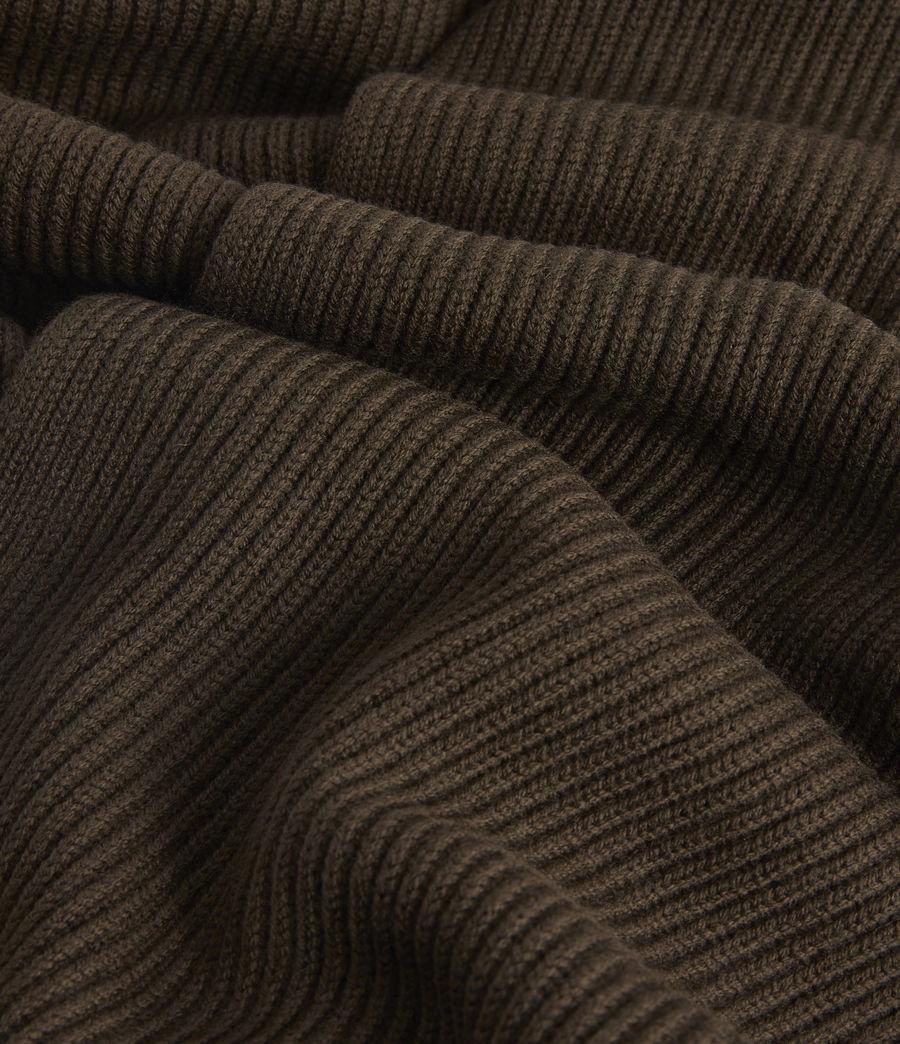 Men's Rib Merino Wool Scarf (army_green) - Image 3