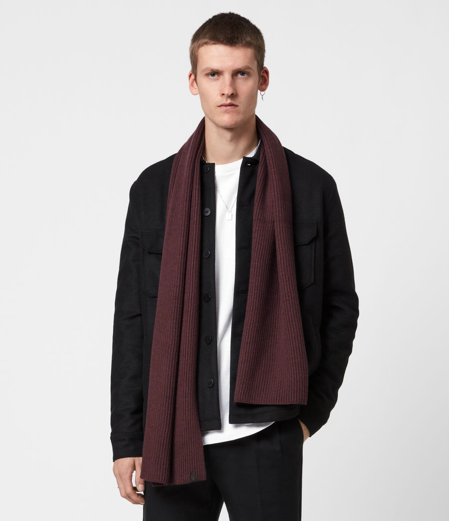 Men's Rib Merino Wool Scarf (burnt_sienna) - Image 1