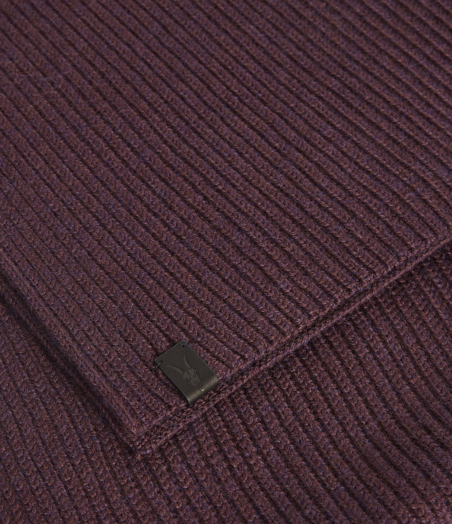 Men's Rib Merino Wool Scarf (burnt_sienna) - Image 3
