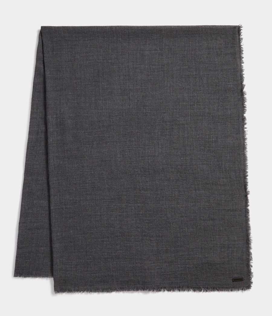 Men's Solid Twill Oversize Scarf (dark_charcoal) - Image 1