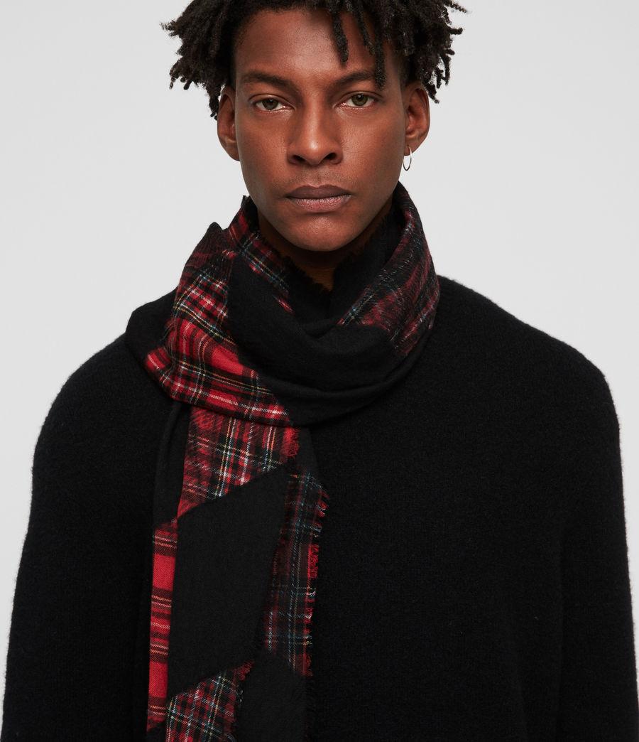 Men's Best Check Tie Dye Scarf (black) - Image 1