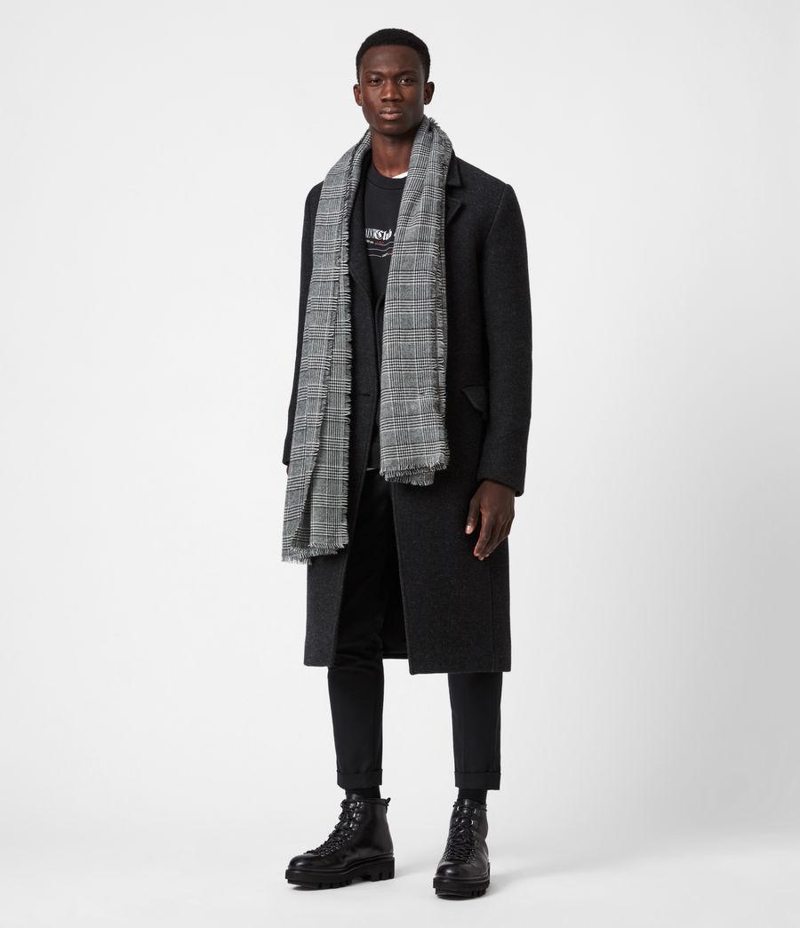 Men's Griffin Wool Blend Scarf (black) - Image 4