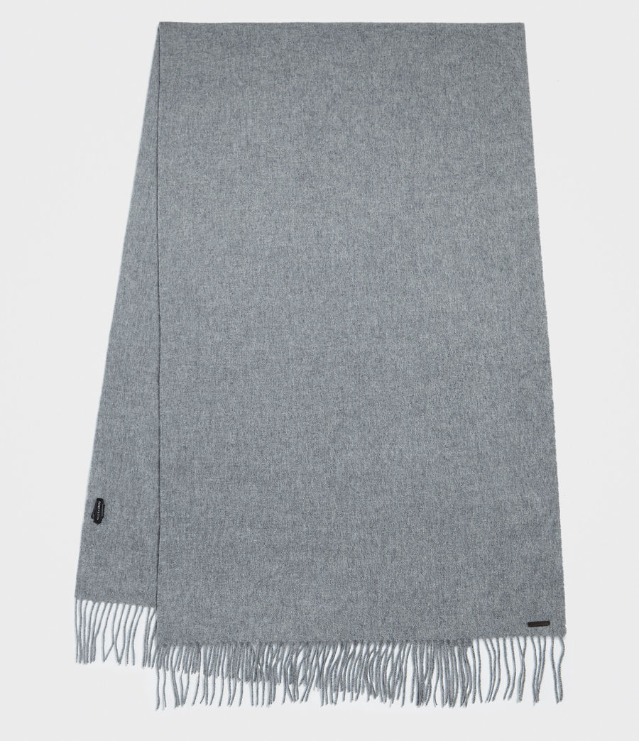 Men's Heavy Wool Blanket Scarf (grey_marl) - Image 1