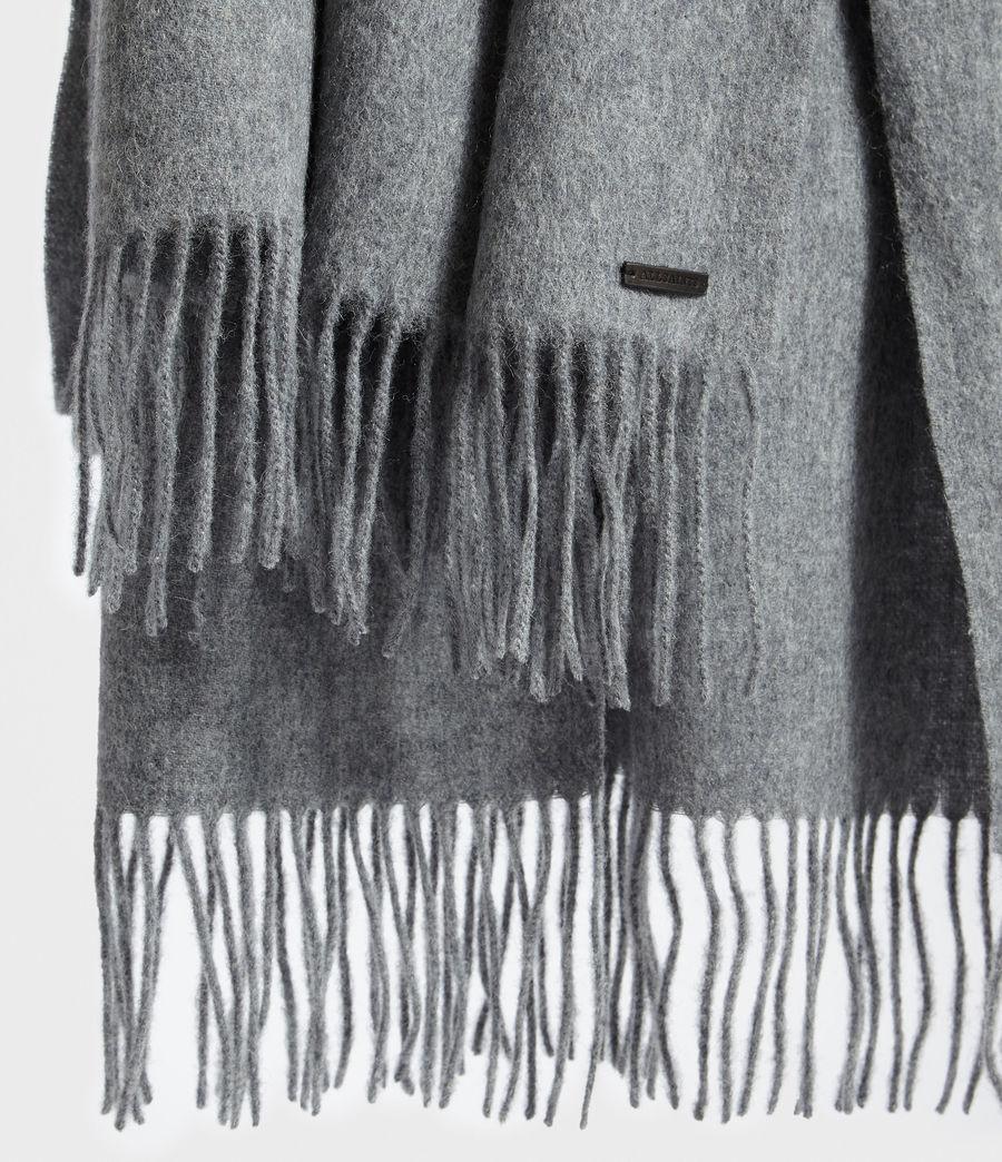 Men's Heavy Wool Blanket Scarf (grey_marl) - Image 3