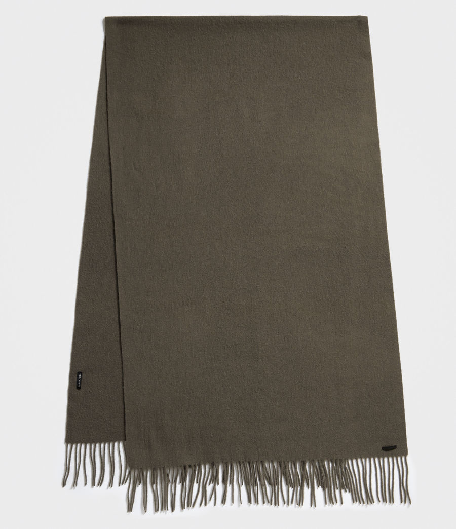 Uomo Heavy Wool Blanket Scarf (light_khaki) - Image 1