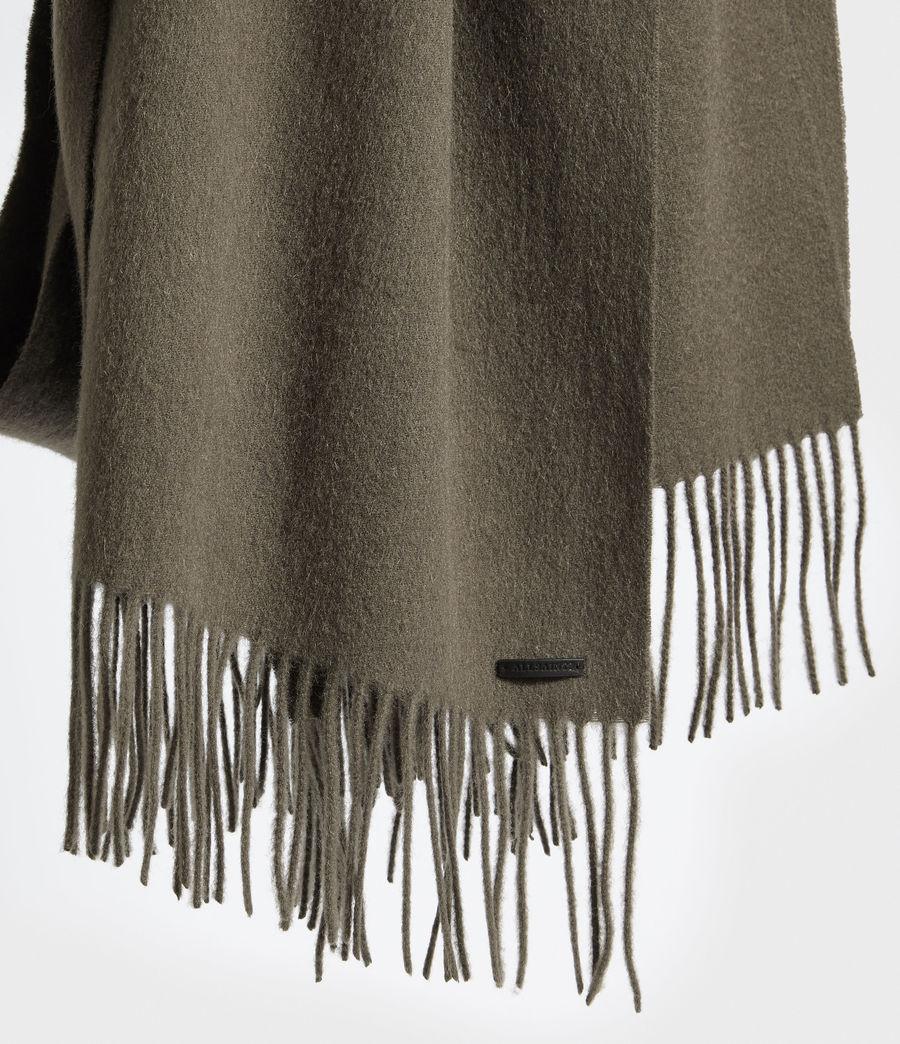 Men's Heavy Wool Blanket Scarf (light_khaki) - Image 4
