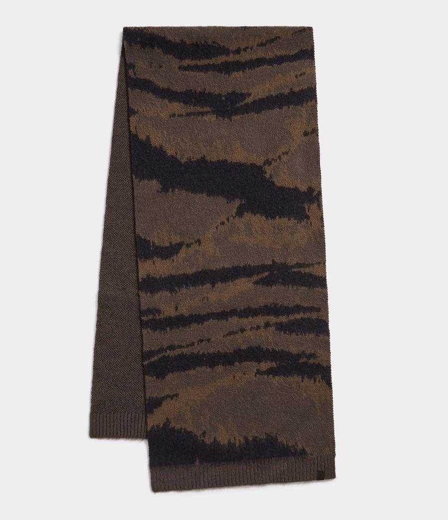 Men's Camo Jacquard Scarf (sandalwood_grey) - Image 1