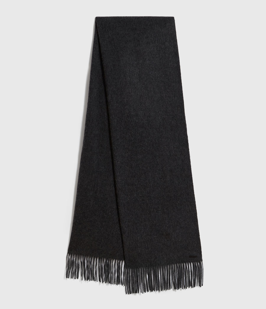 Men's Heavy Wool Blanket Scarf (cinder_black_marl) - Image 1