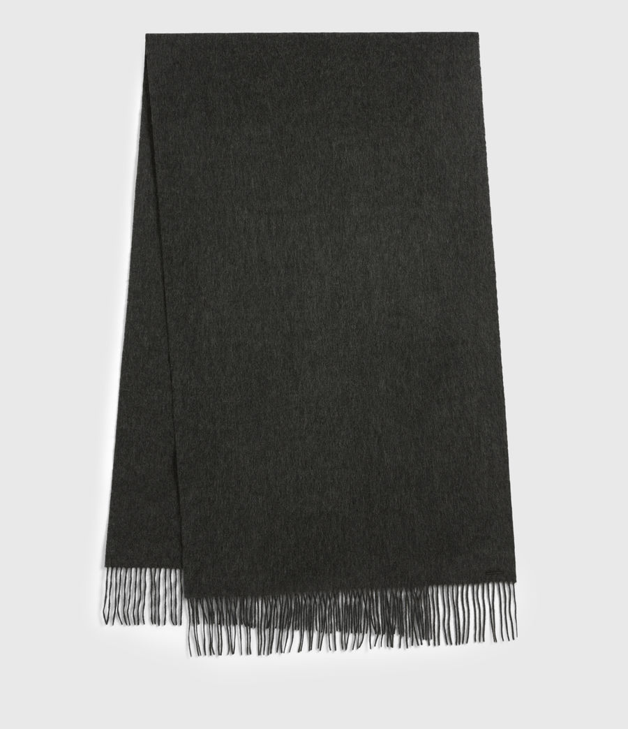 Men's Heavy Wool Blanket Scarf (cinder_black) - Image 2