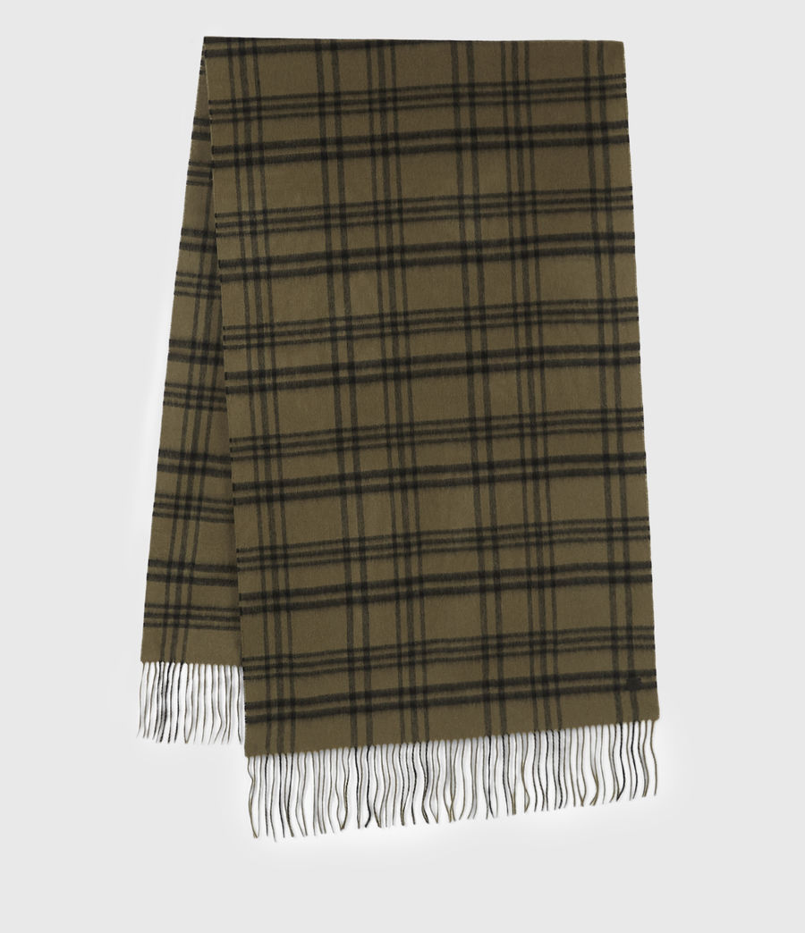 Men's Ash Wool Blanket Scarf (khaki_brown) - Image 2