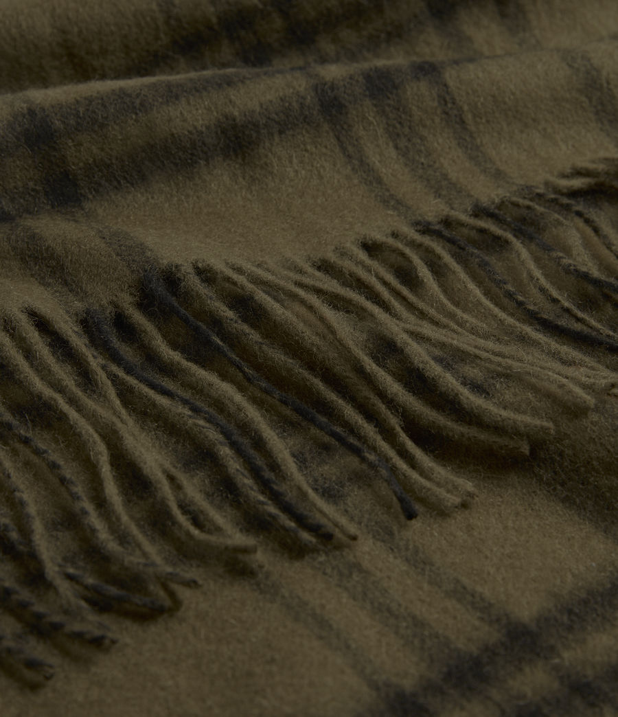 Men's Ash Wool Blanket Scarf (khaki_brown) - Image 3
