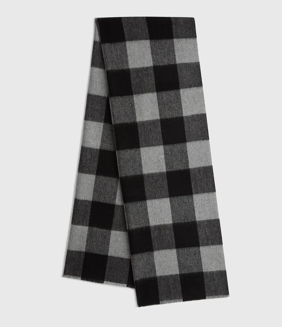 Mens Buffalo Check Woven Scarf (brick_red_black) - Image 1