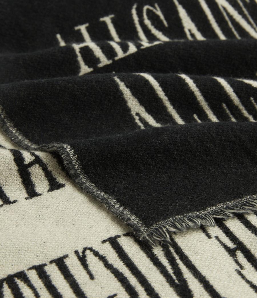 Hommes Varsity AllSaints Wool Blend Woven Scarf (black) - Image 2