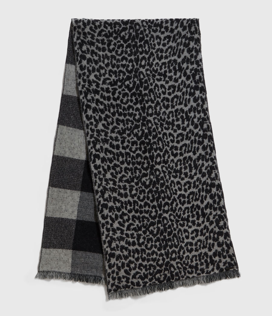 Mens Reversible Prowl Wool Blend Woven Scarf (black) - Image 1