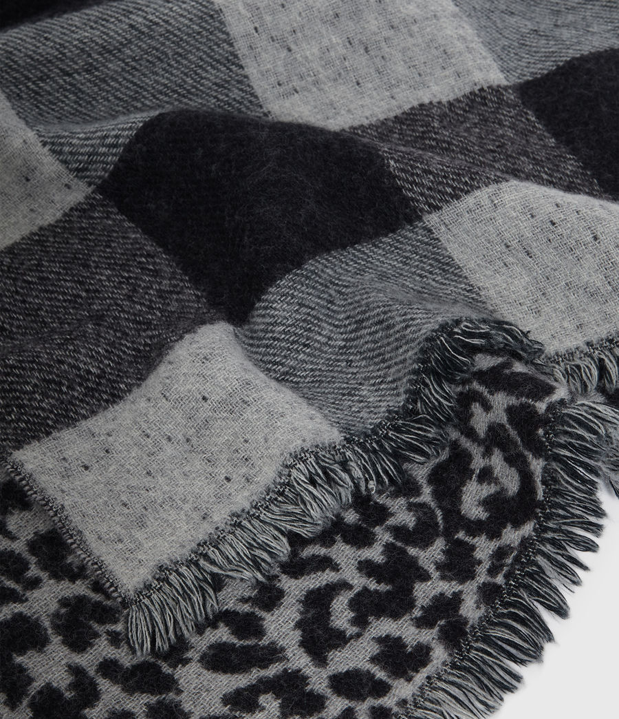 Men's Reversible Prowl Wool Blend Woven Scarf (black) - Image 4