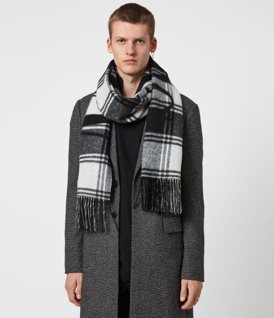 Mens Arden Wool Logo Scarf (black_chalk) - Image 1