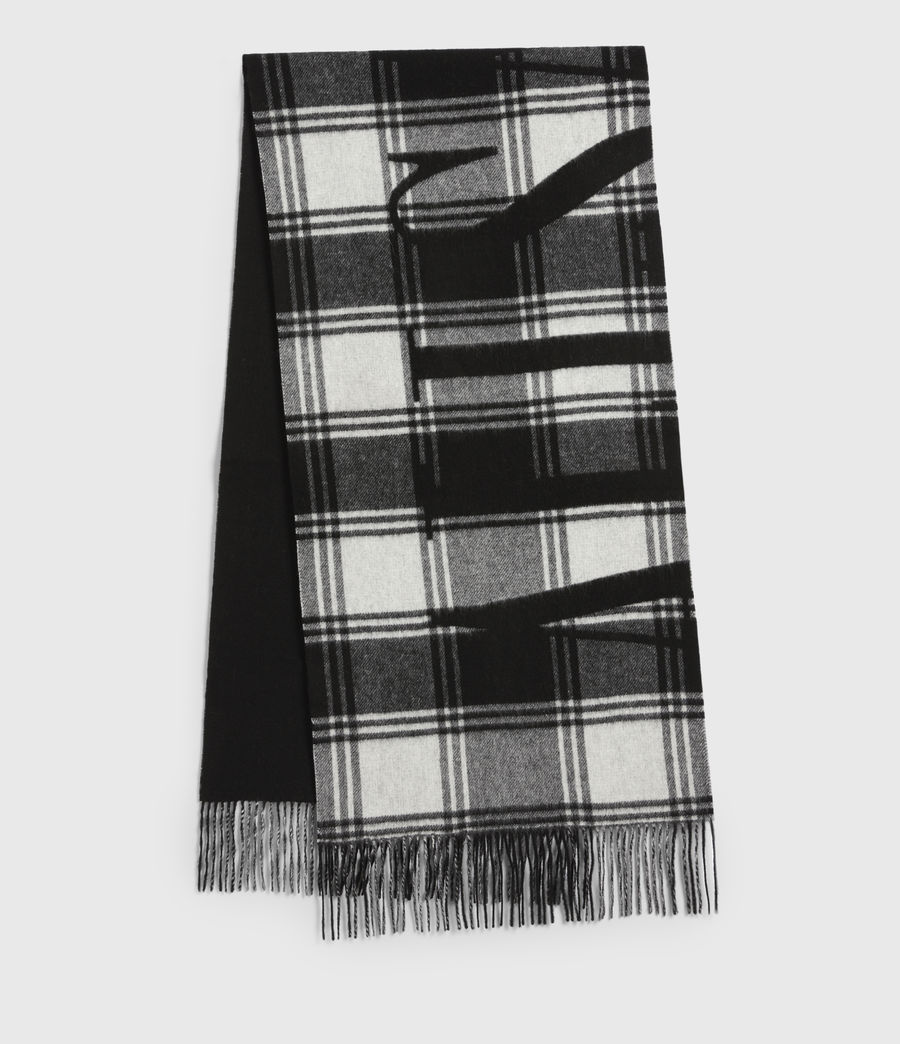 Mens Arden Wool Logo Scarf (black_chalk) - Image 2