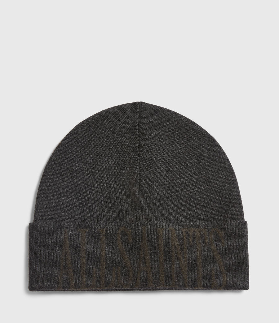 Men's Parka Cuff Merino Wool Beanie (black_army_green) - Image 2