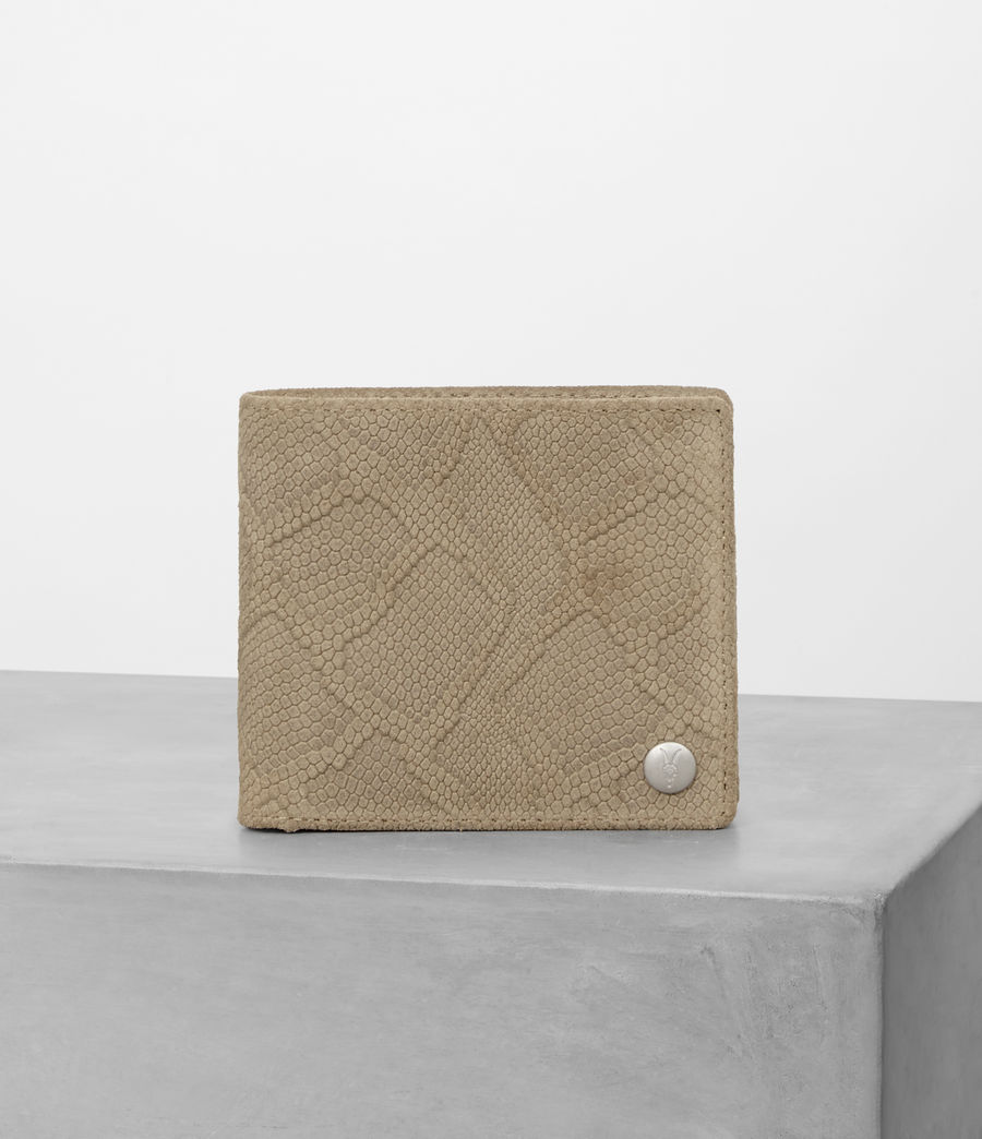 Mens Attain Leather Wallet (taupe_emboss) - Image 1