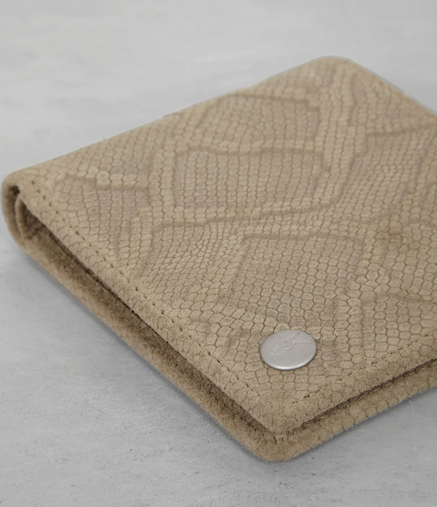 Mens Attain Leather Wallet (taupe_emboss) - Image 2