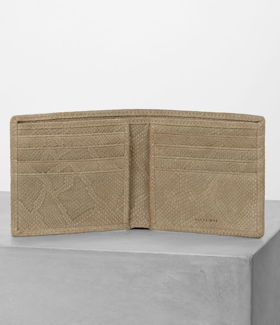 Mens Attain Leather Wallet (taupe_emboss) - Image 3