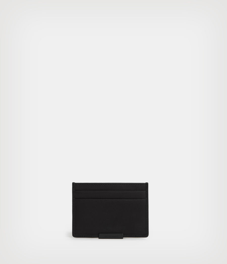 Mens Dove Leather Cardholder (black) - Image 1