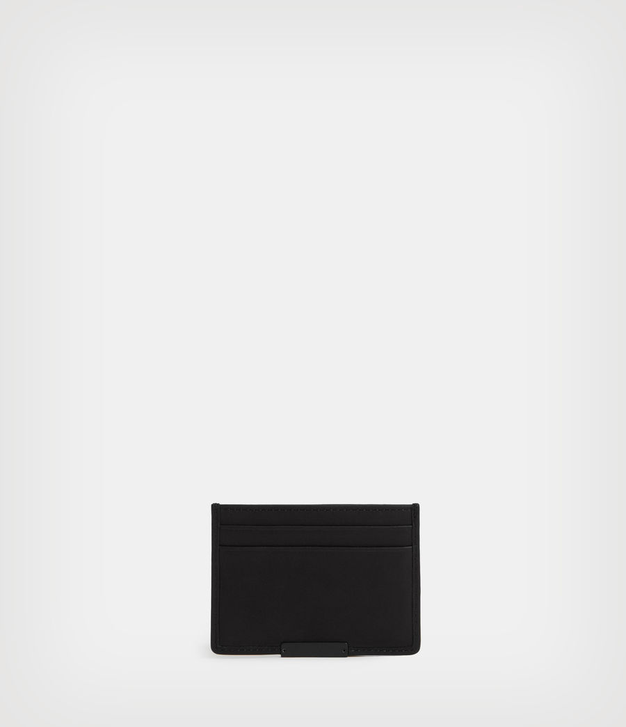 Mens Dove Leather Cardholder (black) - Image 4