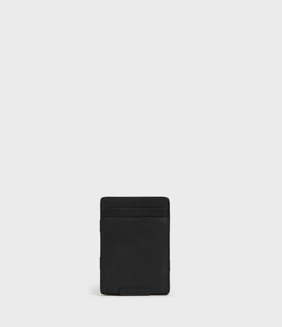 Mens Flip Leather Cardholder (black) - Image 1