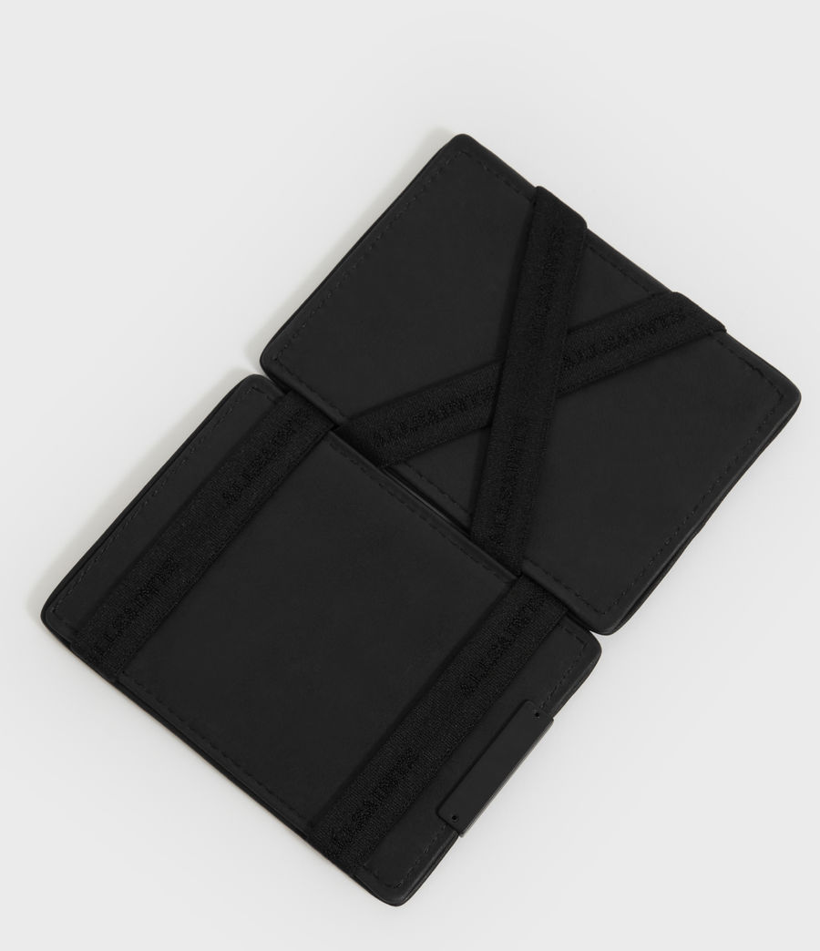 Mens Flip Leather Cardholder (black) - Image 2