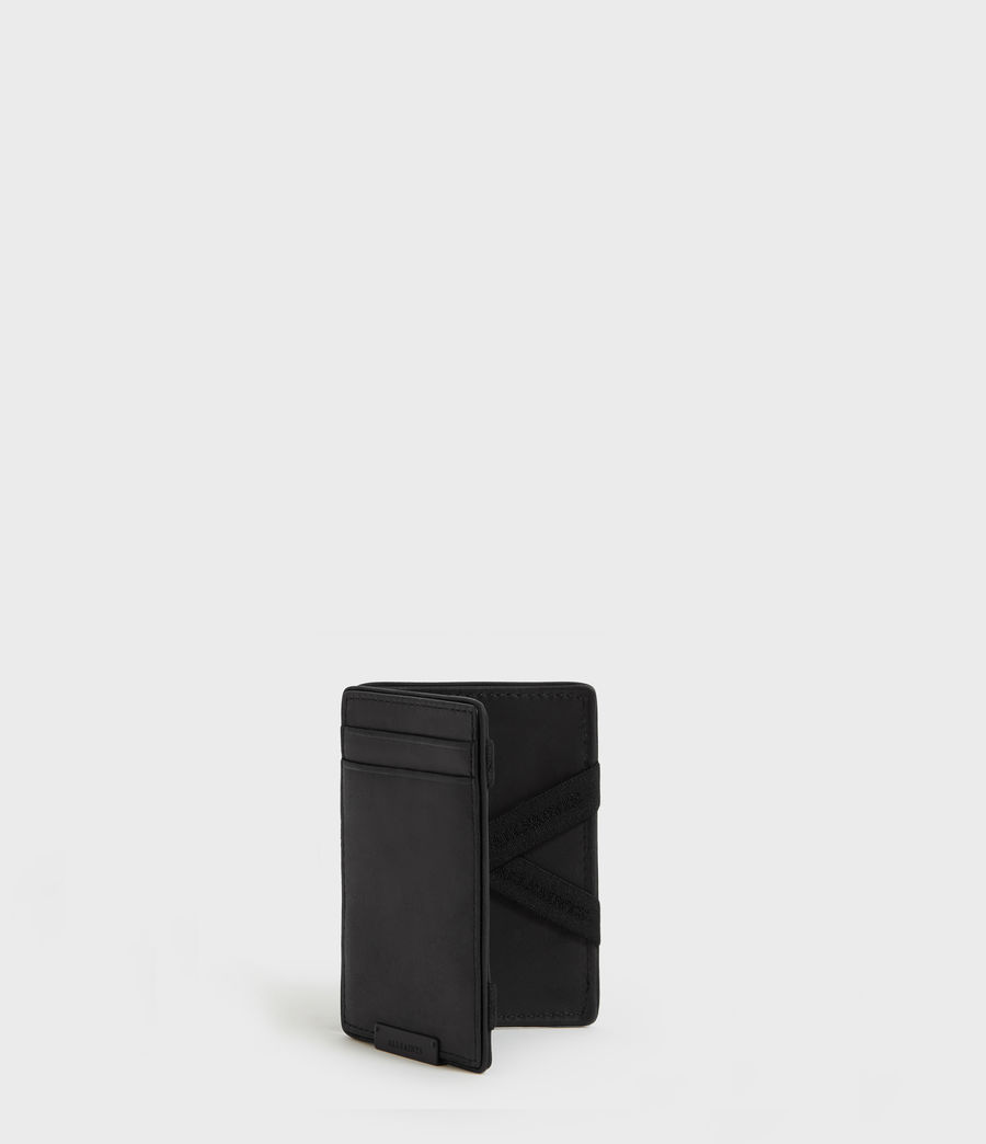 Mens Flip Leather Cardholder (black) - Image 3