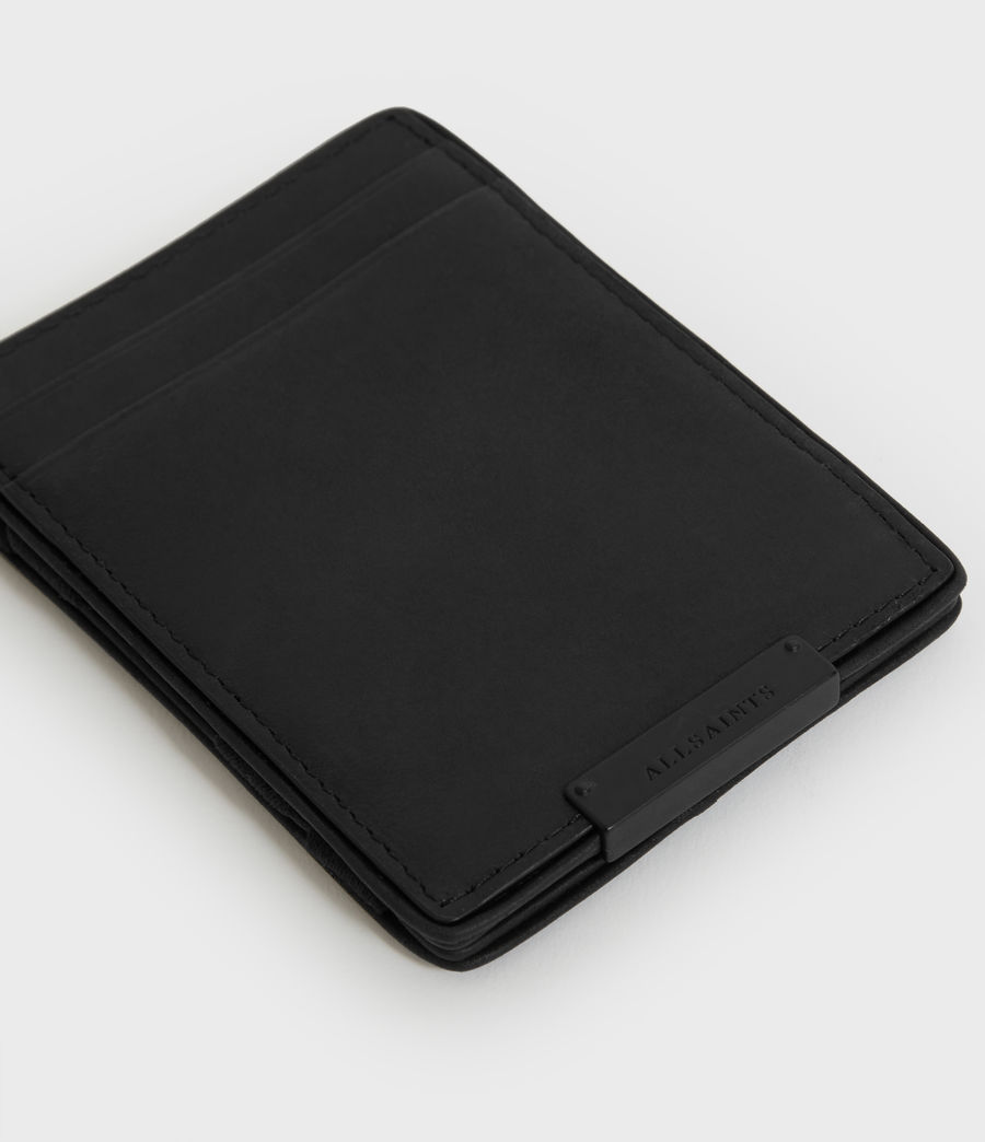 Mens Flip Leather Cardholder (black) - Image 4