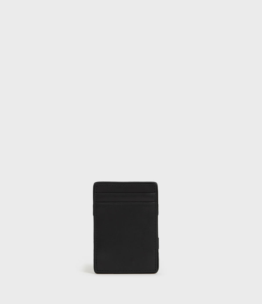 Mens Flip Leather Cardholder (black) - Image 5