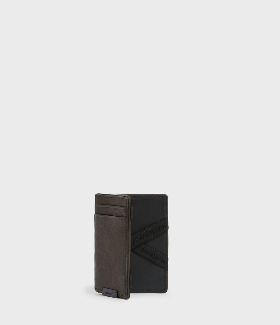 Mens Flip Leather Cardholder (black) - Image 3