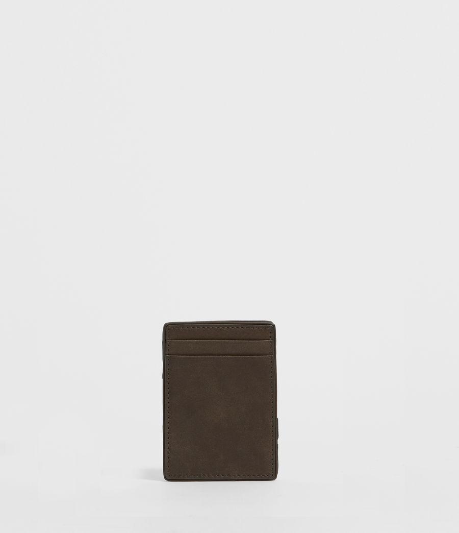 Mens Flip Leather Cardholder (black) - Image 5