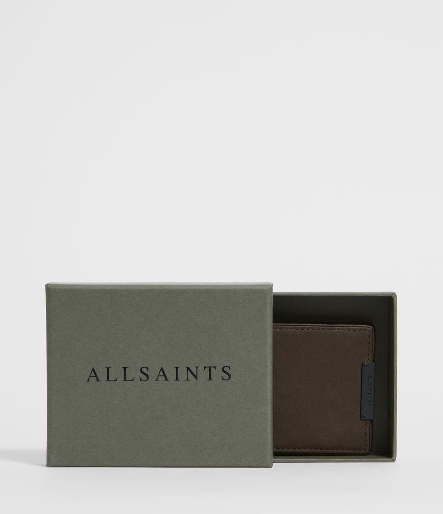 Mens Flip Leather Cardholder (black) - Image 6