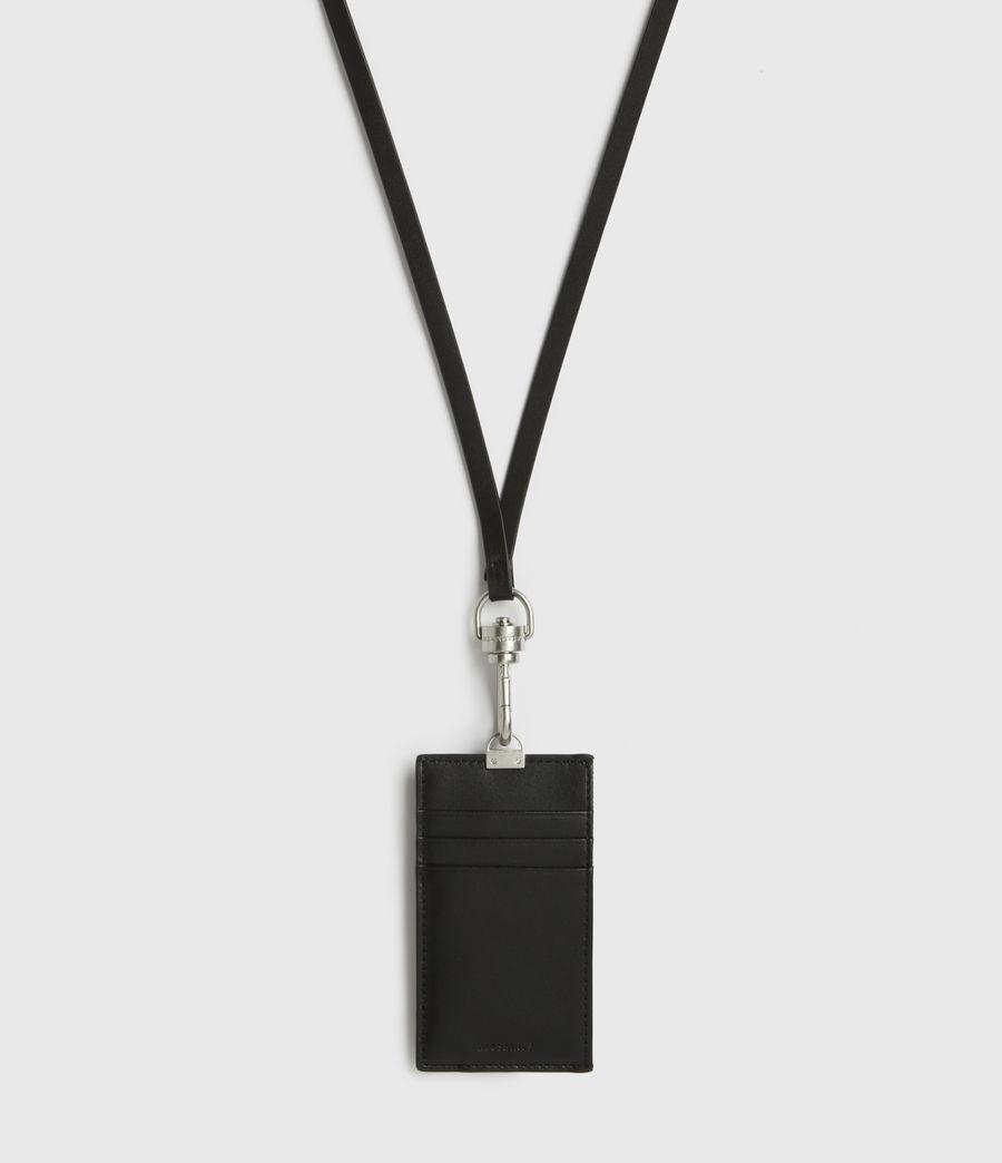 Mens Leather Lanyard Cardholder (black) - Image 3