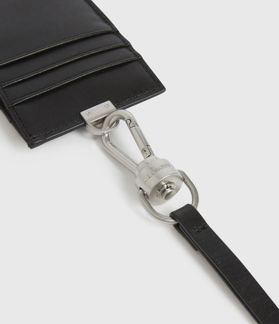 Mens Leather Lanyard Cardholder (black) - Image 4