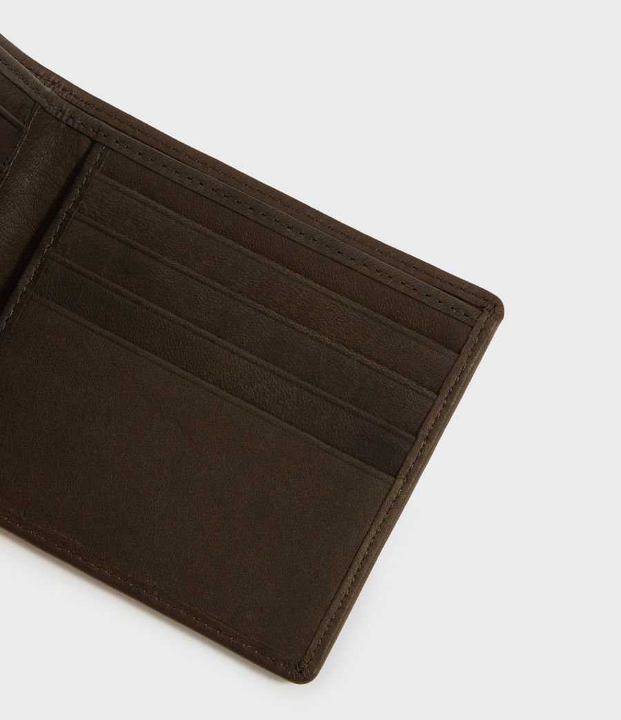 Men's Attain Leather Cardholder Wallet (dark_khaki_green) - Image 4