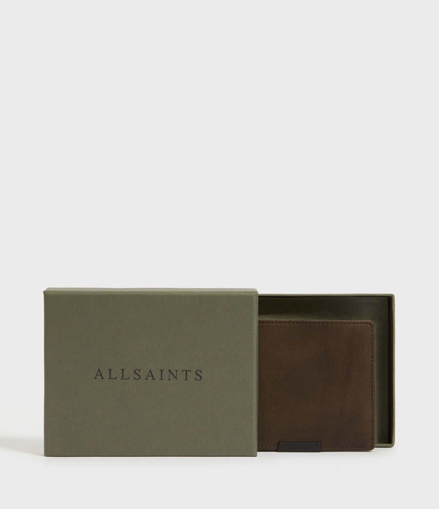 Men's Attain Leather Cardholder Wallet (dark_khaki_green) - Image 6