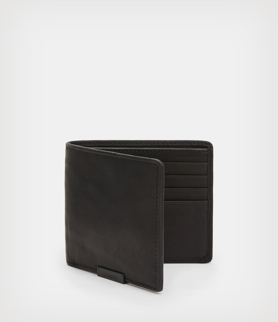 Mens Attain Leather Cardholder Wallet (black) - Image 3
