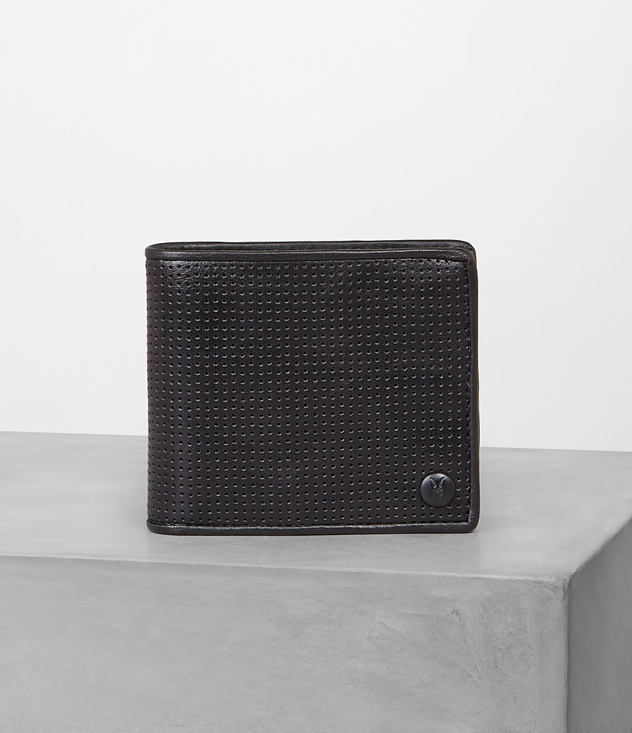 Mens Blyth Wallet (Black Perforated) - Image 1