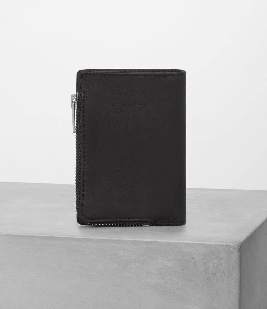 Mens Mast Leather Zip Wallet (black) - Image 4