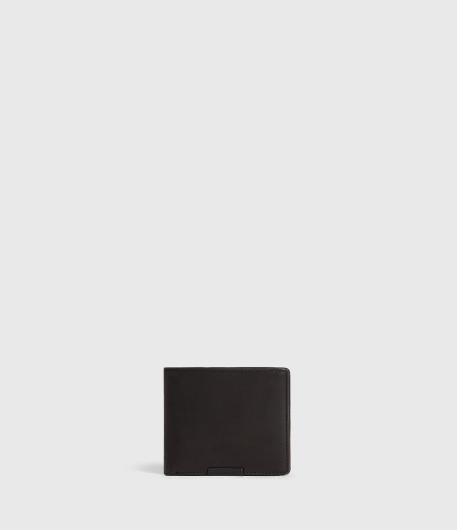 Mens Blyth Leather Wallet (dark_khaki_black) - Image 1