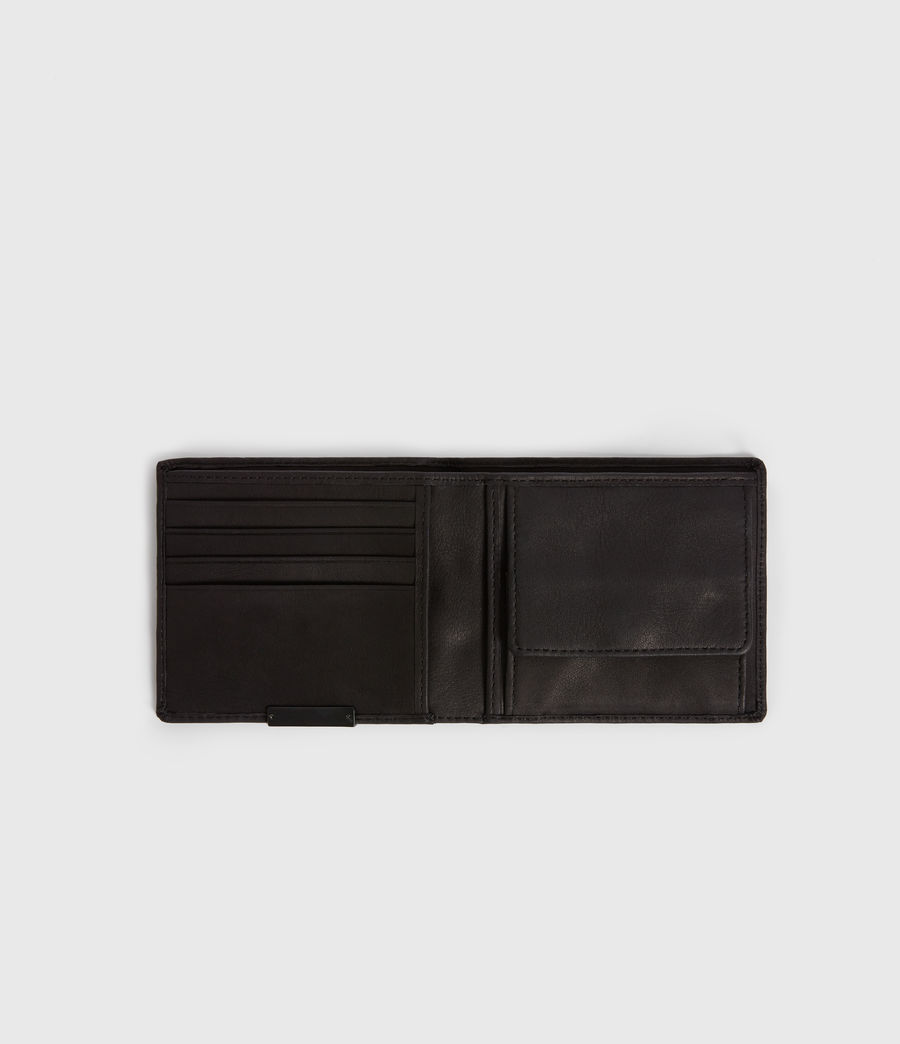 Mens Blyth Leather Wallet (dark_khaki_black) - Image 5