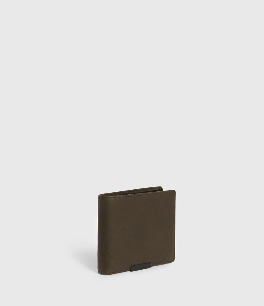 Mens Blyth Leather Wallet (dark_khaki_black) - Image 3