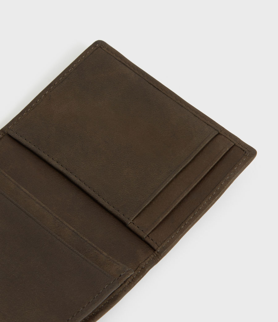 Men's Raven Leather Cardholder (dark_khaki_green) - Image 2