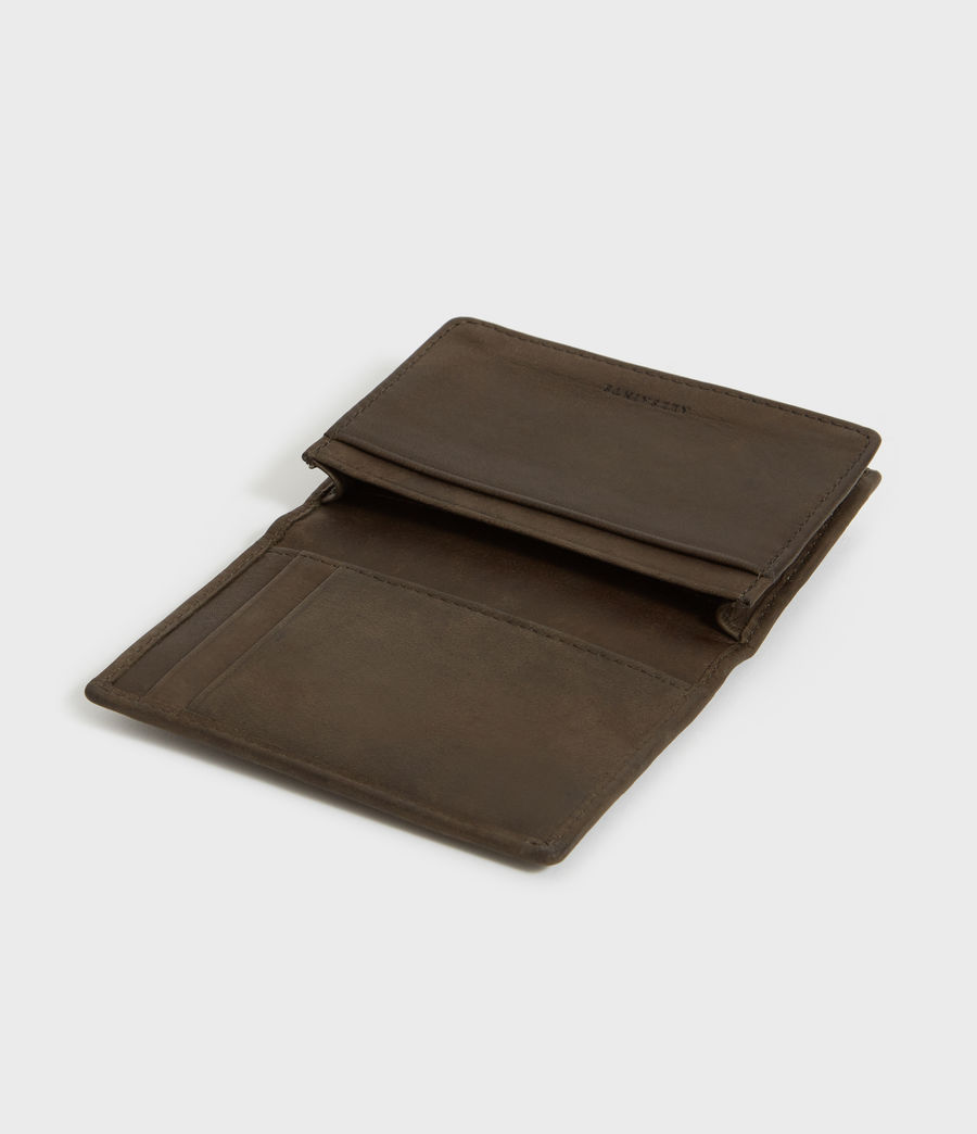 Men's Raven Leather Cardholder (dark_khaki_green) - Image 4