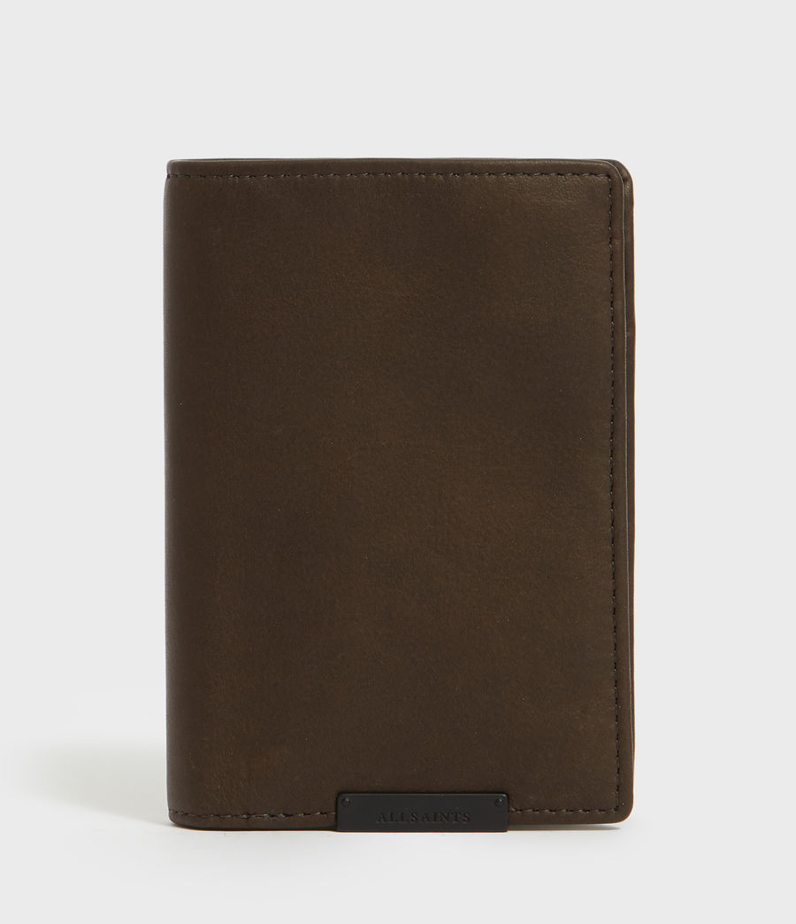 Mens State Leather Wallet (dark_khaki_green) - Image 1