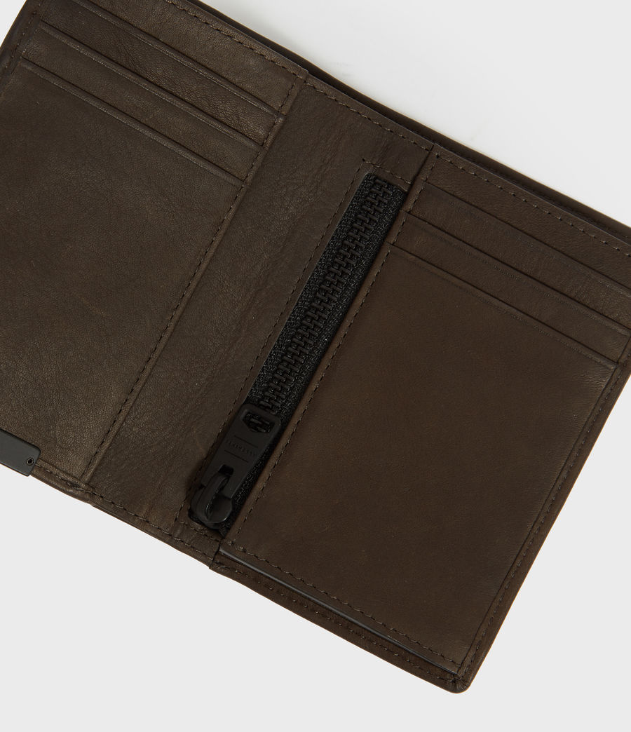 Mens State Leather Wallet (dark_khaki_green) - Image 3