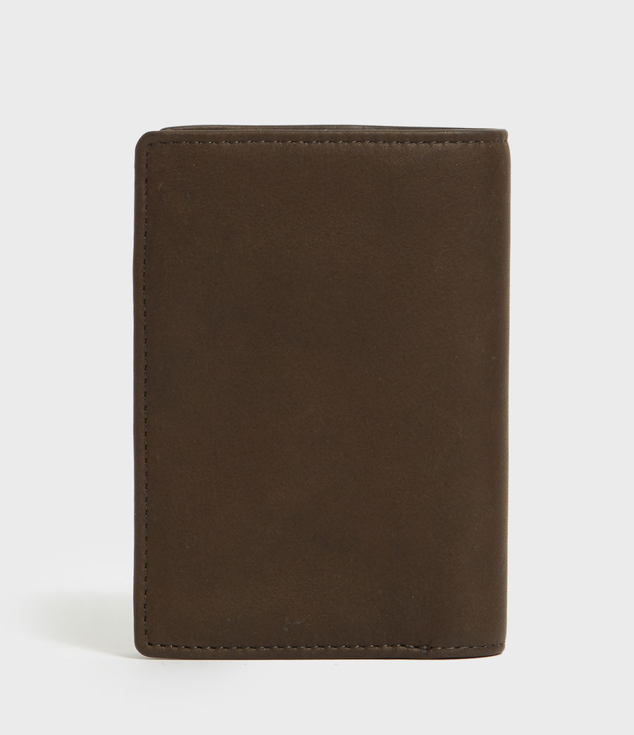 Mens State Leather Wallet (dark_khaki_green) - Image 4